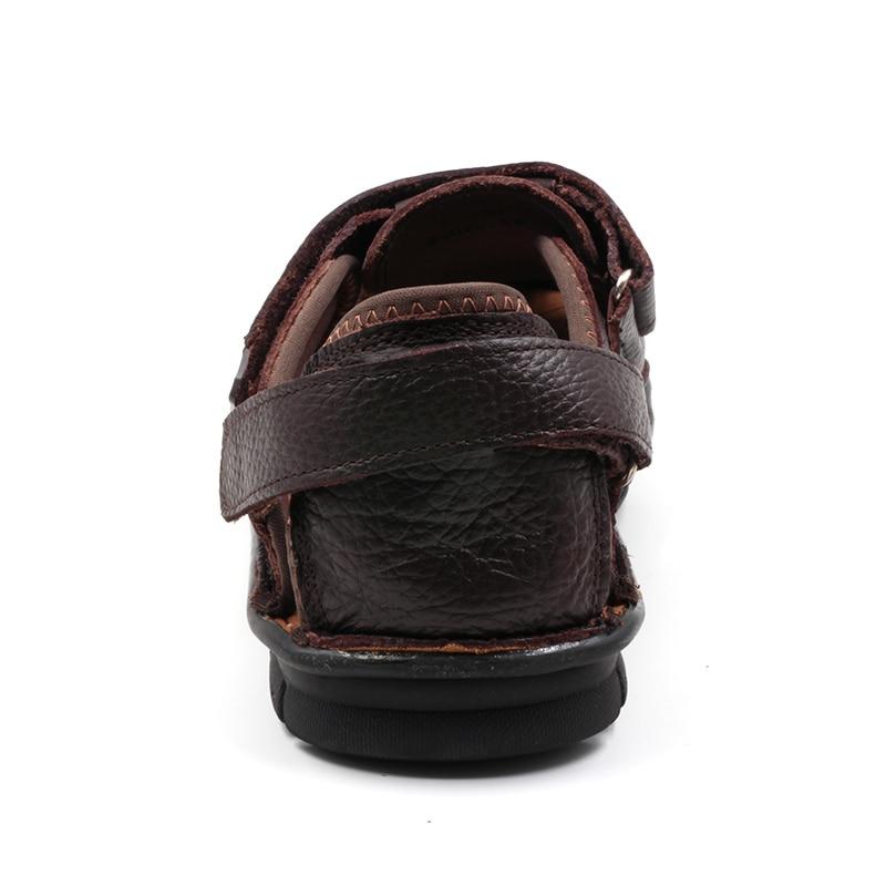 Luxus-echtes Leder-Sommer-Schuh-Mann-Sandelholz-Art- und - Herrenschuhe - Foto 4