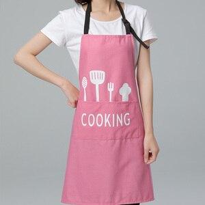 Delantal ajustable de cocina impermeable de PVC para hombres y mujeres, delantal rosa para Chef de cocina, accesorios para repostería, delantal comercial para restaurante