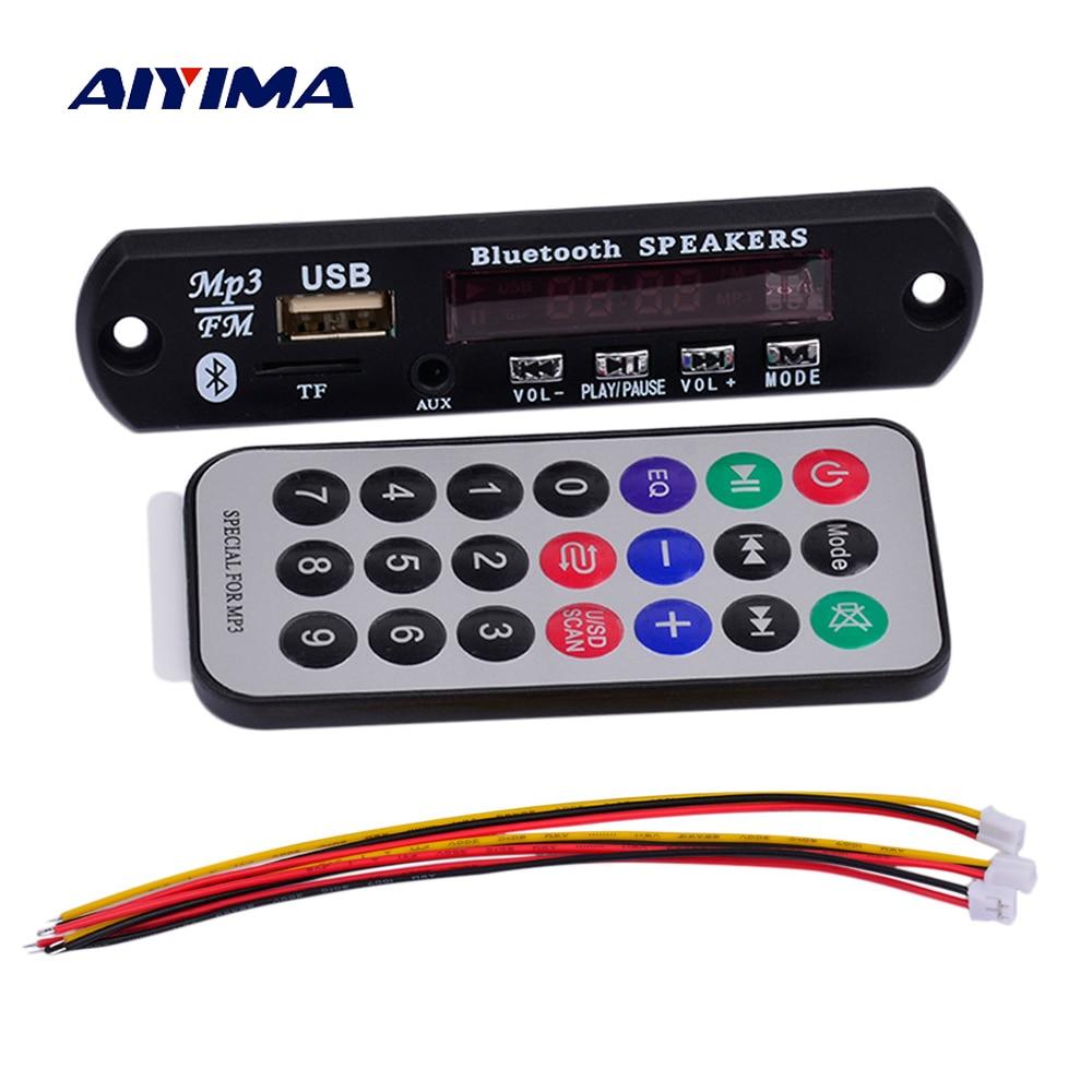 Unterhaltungselektronik Professioneller Verkauf Aiyima Drahtlose Bluetooth Mp3 Wma Wav Decoder Board Mp3 Player Audio Modul Usb Sd Tf Radio Fernbedienung Für Auto Zubehör Reich Und PräChtig Mp3-player