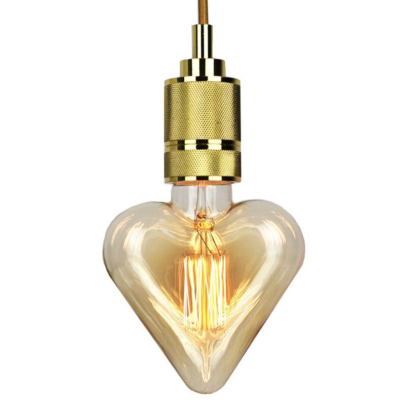 10 pcs 40 w Classique Vintage Rétro Edison Lumière E27 Filament Pêche Coeur Nostalgique Edison Ampoule AC220V Antique Edison Ampoule