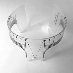 1PC Reusable Semi Permanent Eyebrow Ruler Eye Brow Measure Tool Eyebrow Guide Ruler Microblading Calliper Makeup Stencil