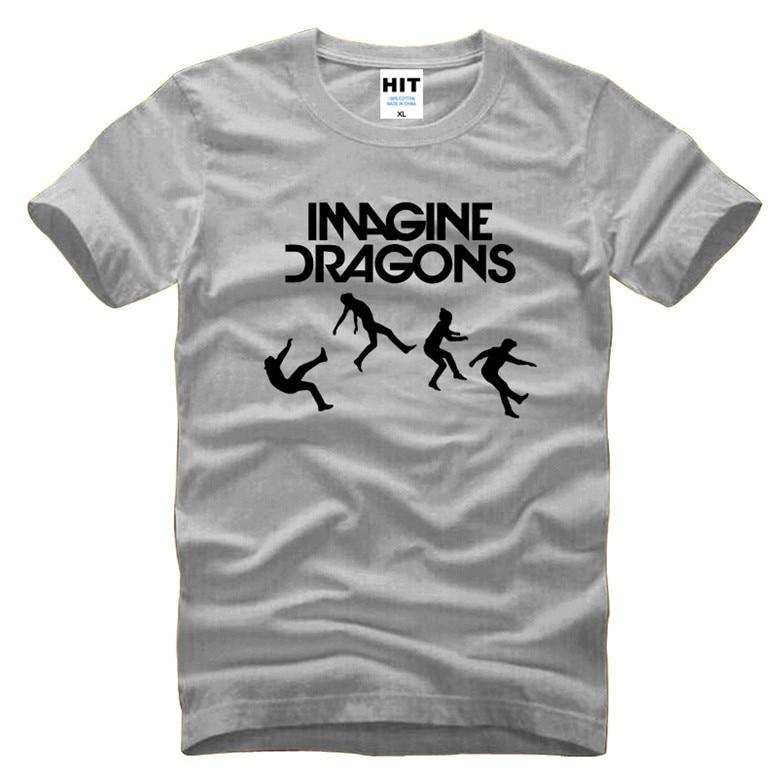 cc535c00372a1 Imagine Dragons Música Rock Camiseta de Los Hombres T Shirt Para Hombres  2016 nueva Manga Corta O Cuello de Algodón Casual Top Tee Camisetas Hombre  en ...
