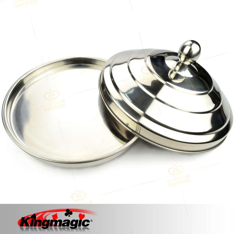 1 set colombe Pan Double charge en acier inoxydable scène tours de magie Illusion haute qualité feu magique accessoire professionnel accessoire magique