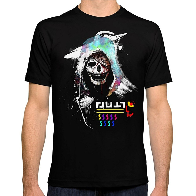 Funny Tee Shirts Casual El Huervo Death 39 S Head O Neck Short Sleeve Mens Tee Shirts in T Shirts from Men 39 s Clothing