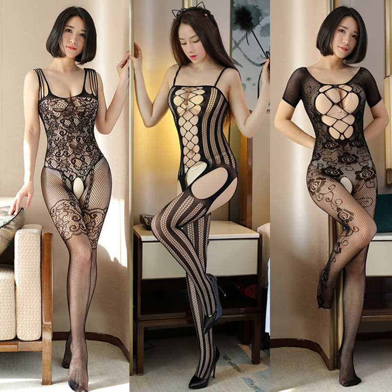 Sexy Lingerie Teddy Babydoll Hot Erotic Lingerie Open Crotch Elasticity Mesh Porn Sexy Underwear Costumes Plus Size Sex Clothing