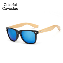 New 2017 Bamboo Sunglasses Women Dazzling Colorful Brand Women Sun Glasses Fashion Popular Ladies Bamboo Glasses