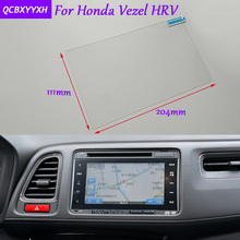 Car Styling GPS Navigation Screen Glass Protective Film Sticker For Honda Vezel HRV Auto Accessories Control of LCD Screen
