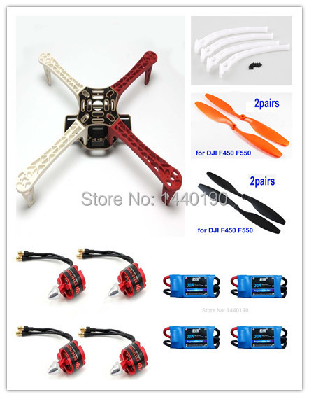 F450 ATF Quadcopter Frame Kit &  920KV Brushless Motor & DYS Simonk 30A ESC & F450/F550 Landing gear 4set lot universal rc quadcopter part kit 1045 propeller 1pair hp 30a brushless esc a2212 1000kv outrunner brushless motor