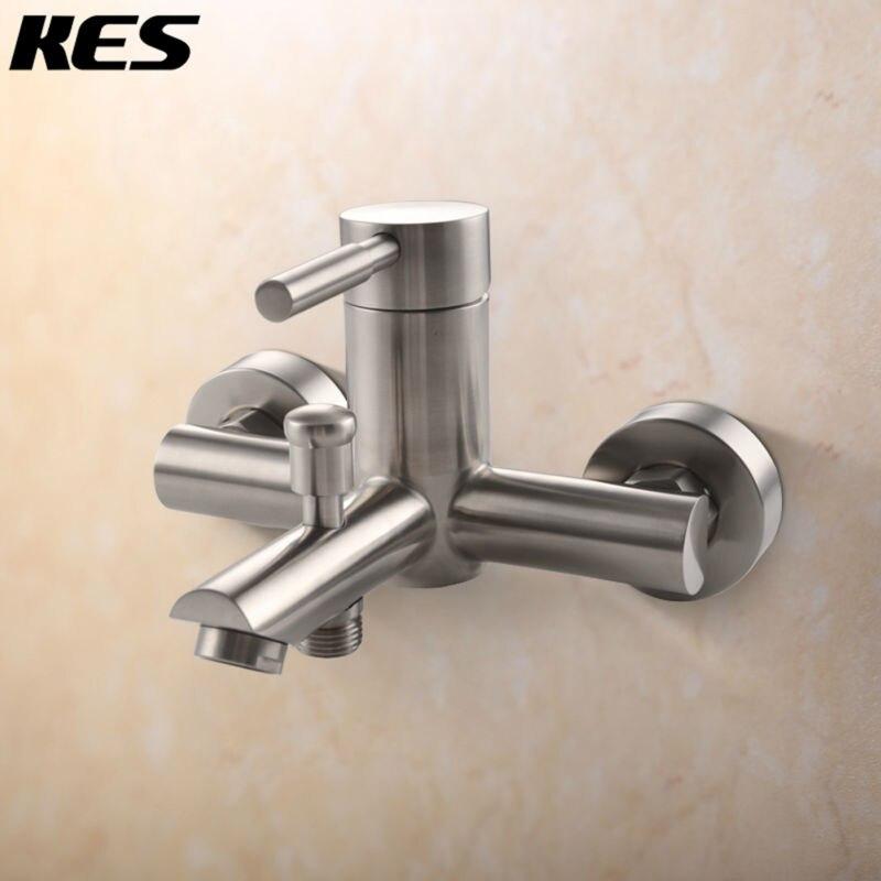 っKES sus 304 Acero inoxidable baño ducha grifo con desviador