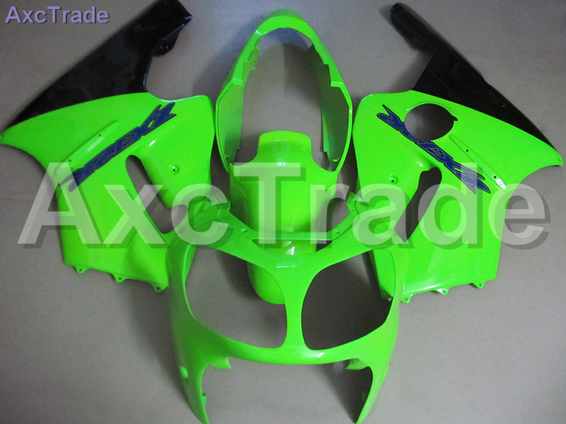 Moto Injection Mold Motorcycle Fairing Kit For Kawasaki ZZ-R 1200 ZX12R ZX-12R 2000 2001 00 01 Bodywork Fairings Custom Made high grade for kawasaki zx12r fairings 2000 ninja zx12 fairing 2001 zx 12r 00 01 green flame in glossy black sm17