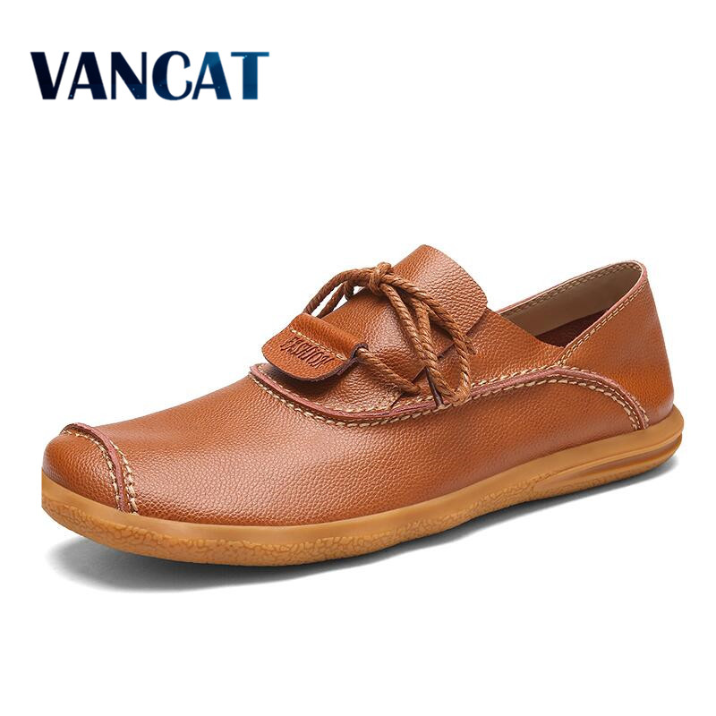 VANCAT Luxury Brand Men Designer Shoes Fashion Men Leather Shoes Lace Up Casual Leather Male Shoes Designer Men Flats cbjsho brand men shoes 2017 new genuine leather moccasins comfortable men loafers luxury men s flats men casual shoes