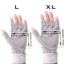 Maximumcatch Fishing Gloves Fly Fishing Anti-UV Sun Protection Half Finger 50+ UPF Outdoor L&XL Size