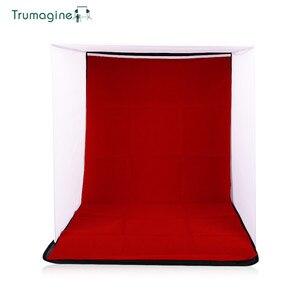 Image 4 - 60x60x60 cm portátil dobrável softbox fotografia estúdio suave caixa de luz tenda com 4 foto backdrops para iphone samsang htc dslr