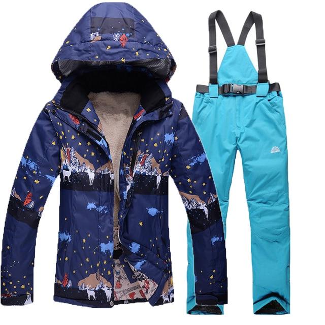 Nuovo Donne Snowboard Signore Sci Abbigliamento Tuta Delle Da Marca Di Giacca r1t86qr