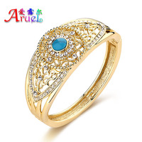 ERLUER vintage gold color jewelry fashion bracelets India African classic luxury crystal stone bangle bracelet for women