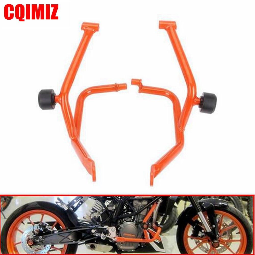 Orange moto moteur protection garde Crash Bar protecteur pour KTM DUKE 390 2013 2014 2015 2016