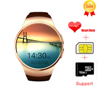 2016 Newest KW18 Smart Watch For Apple Samsung Android Support Heart Rate Monitor Health Full Round