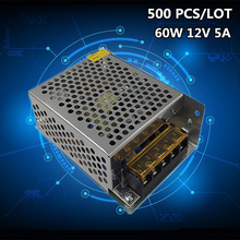 500 PCS/LOT Wholesale lighting Transformers 60W DC 12V 5A LED Driver Power Adapter For LED Strip light Switch Power Supply wholesale 10pcs dropshipping 50w dc 27 36v 1 5a switching power supply switch driver for led strip light display
