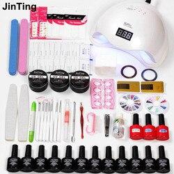 Nail Set 48w/6W Led Nail Lamp Dryer & 6/12pcs Gel varnish Soak Off Manicure Product Lasting Gel Nail Polish set for manicure