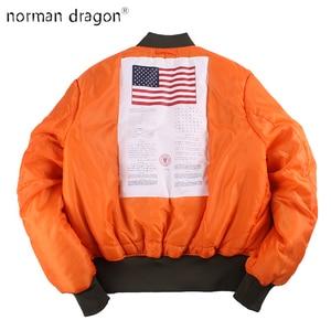 Image 1 - 2020 Winter Vintage oversize MA 1 streetwear hip hop military coats clothes double side bomber flight air force pilot jacket men