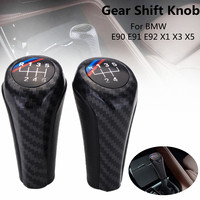 5 Speed 6 Speed Pu Leather Manual Gear Shift Knob For Bmw E90 E91 E92 X1 X3 Car Gear Knob Stick