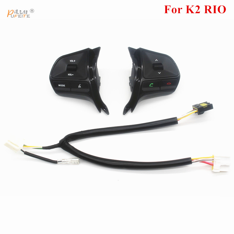 Für KIA RIO 2011-2014 multifunktionale lenkrad control taste Audio telefon lautstärke schalter für bluetooth auto zubehör