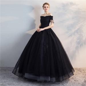 Image 4 - Pani Win Quinceanera sukienki Prom z krótkim rękawem klasyczna Off The Shoulder szlachetna suknia balowa z aplikacjami Party wieczorowa suknia na studniówkę