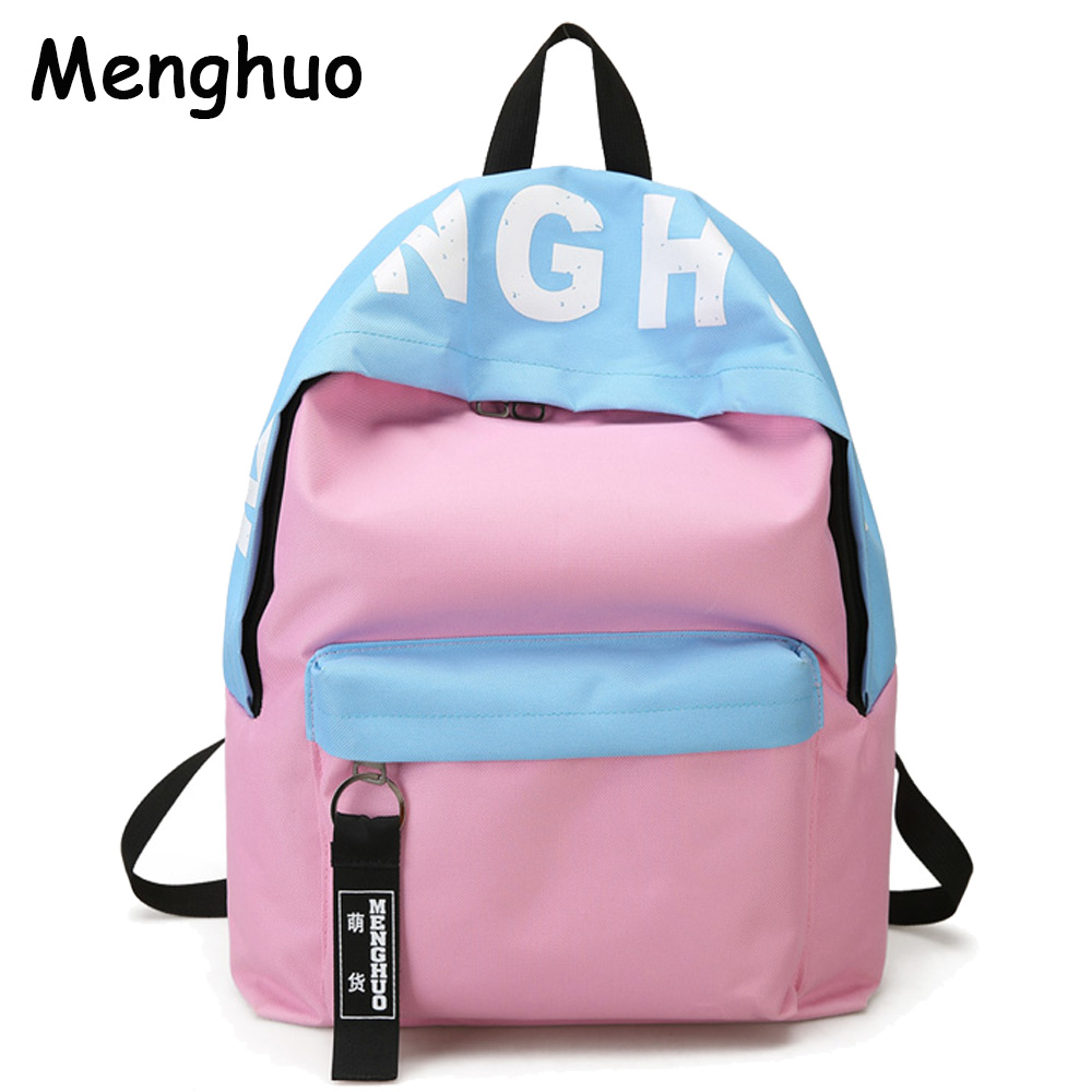 Menghuo 2016 New Design Unisex Women Luminous Backpacks 5 Colors Men Backpack Canvas School Bags For Teenagers Backpack Mochila