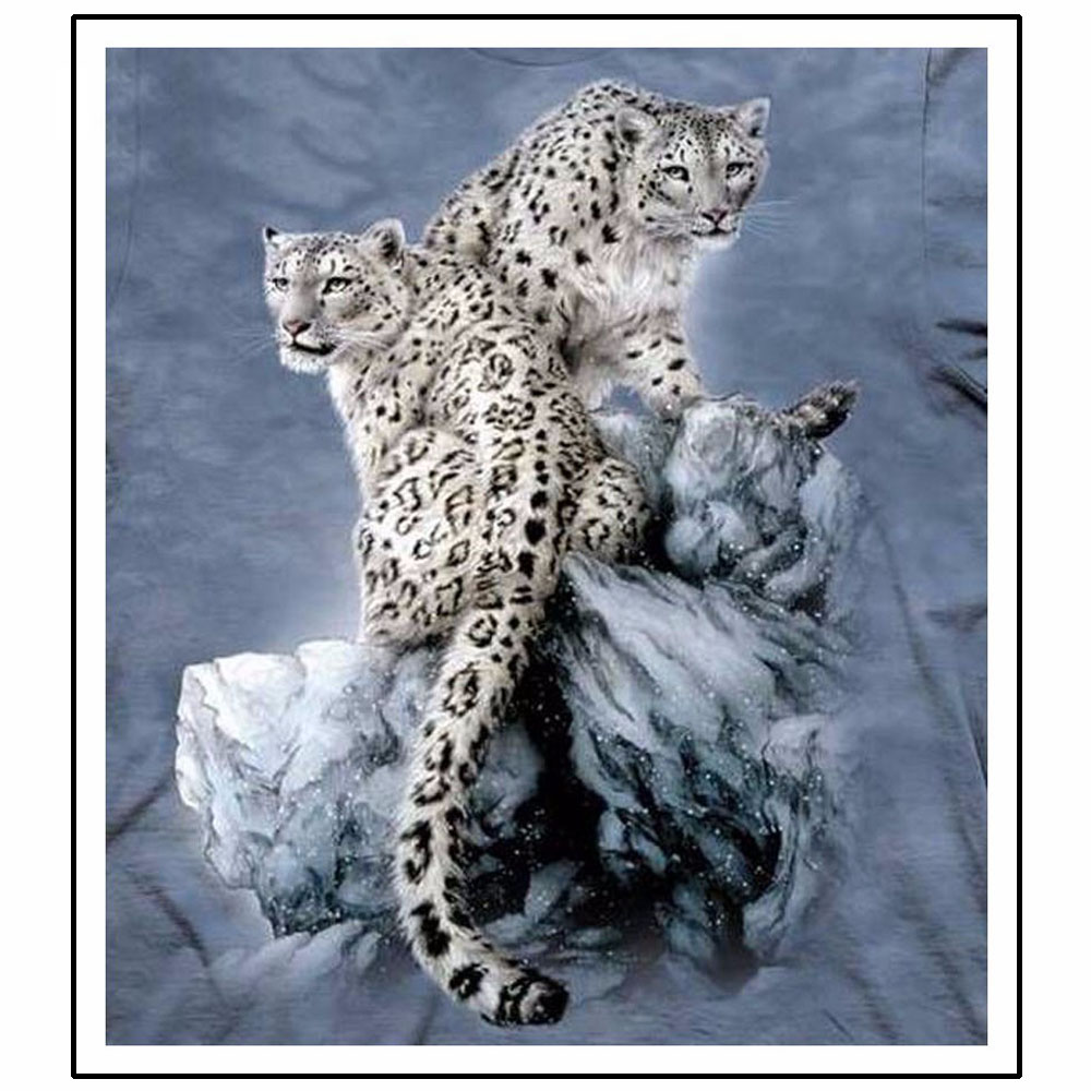 Needlework 3D DIY Diamond Painting Two Leopards Full 5D Diamond Embroidery Cross Stitch Scenic Forest Animal Home Decorative