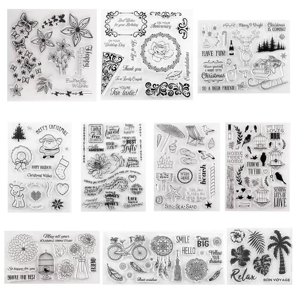 Wall Space Silicone Stamps Photo Album for DIY Scrapbooking Seal Wish Cards
