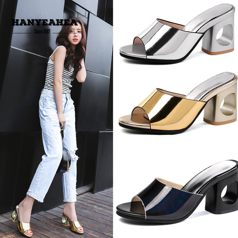 Solid Color Summer Slippers Casual Fashionable Shoes Lady Classic Personality Platform Solid Color Summer Slippers in Slippers from Shoes