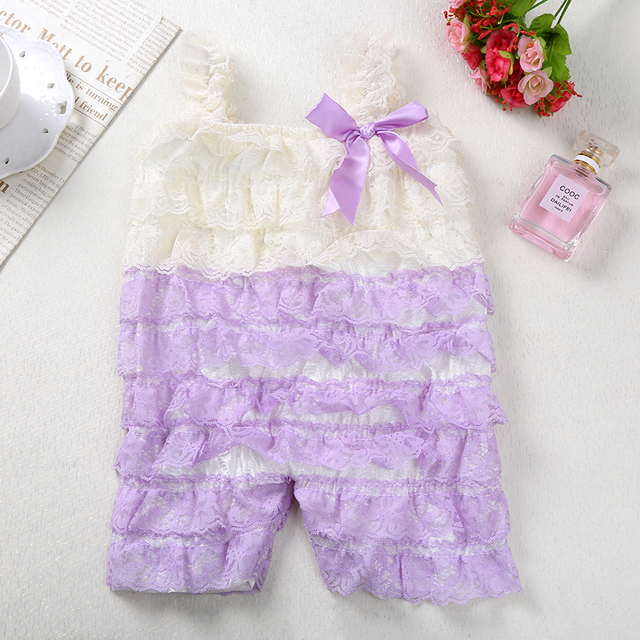 Newborn Baby Girl's Beautiful Lace Rompers