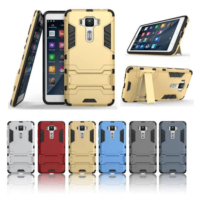 buy popular caf8e f3c61 US $2.99 20% OFF|For Asus Zenfone 3 Deluxe ZS550KL Case Hybrid Silicone  +TPU Case Cover For Asus Zenfone 3 Deluxe ZS550KL Case Phone Back Cover-in  ...