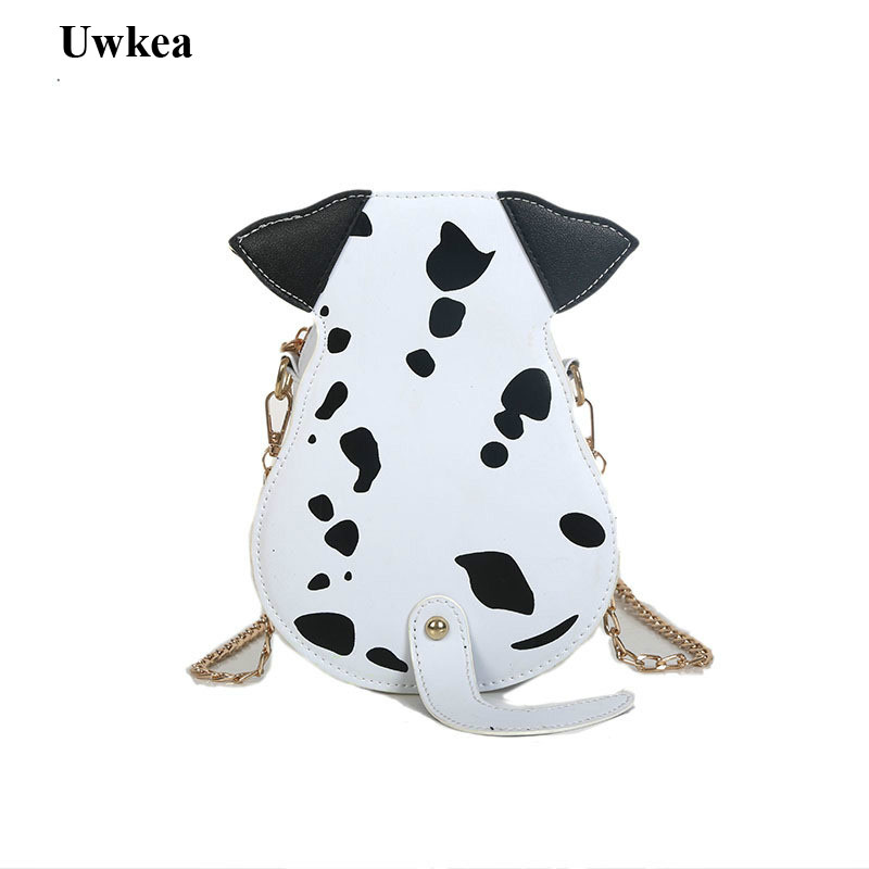 2018 New Hot Cute Cartoon Dalmatian Women Lady Shoulder Bags Casual Animal Print Flap PU Appliques Corssbody Bags free shipping top quatity new national type appliques handbag lady s lady cute casual carry bag shoulder phone makeup bags