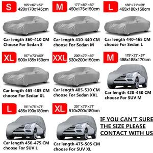 Image 5 - Universal completa carro cobre sol neve sombra dustproof resistente uv protetor capa de automóvel casaco para sedan suv s m l xl xxl d30