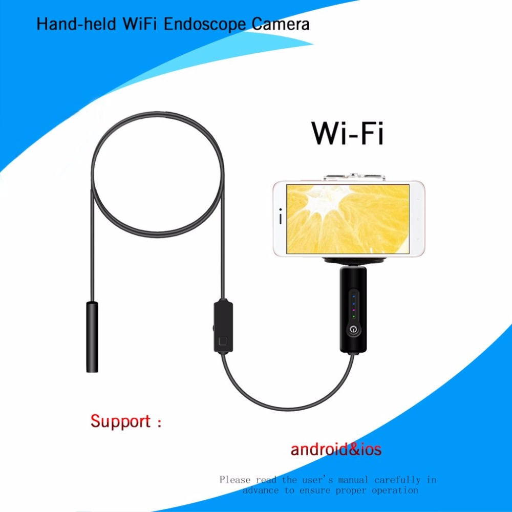 LESHP Wifi Endoscope Camera 8mm 2MP HD Hard Wire IP67 Waterproof Endoscope Camera for android ios phone pc tablet 1/3/5m leshp 8mm lens 2mp hd wifi endoscope camera with 1m 2m 3m 5m soft hard cable waterproof ip67 for ios iphone android tablet pc