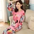 Envío libre Pijama de Manga Larga Pijamas de las mujeres ropa de Noche de otoño e invierno de Las Mujeres Al Por Mayor