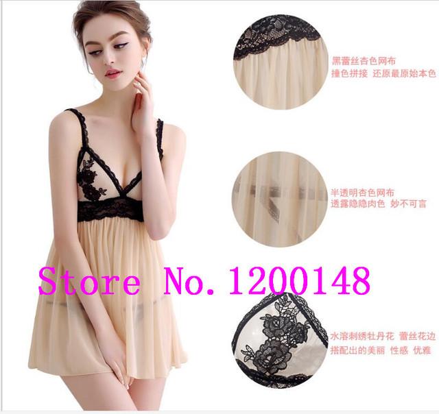 Sexy Sleepwear Erotic Lingerie Hot Pleasure Enchanting Bliss Lace Spaghetti straps Badydoll Women Nightie Sexy Langerie 6XL