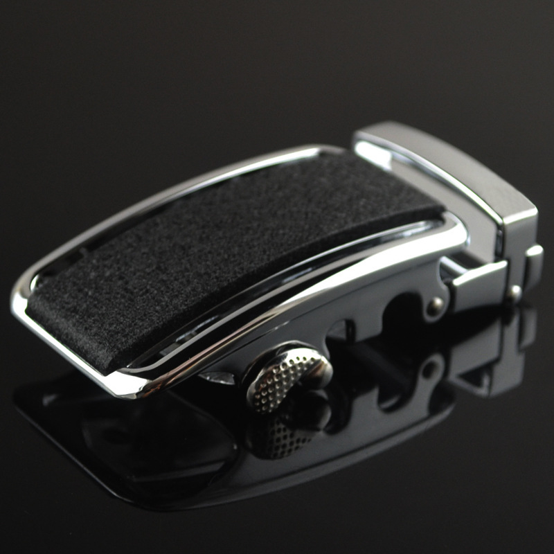 3.5cm Width Belt Buckles For Men Metalen Automatic Belt Buckles Luxury Brand Black Scrub Belt Buckle Head CE25-0519