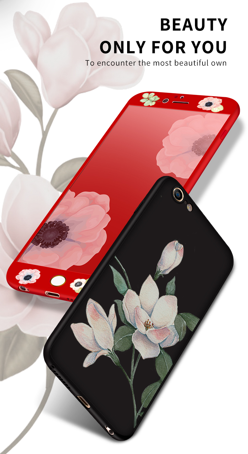 360 Degree Full Protection Iphone 6 6S Ultra Thin Flower Pattern Iphone 6 6S Plus Silicone Coque