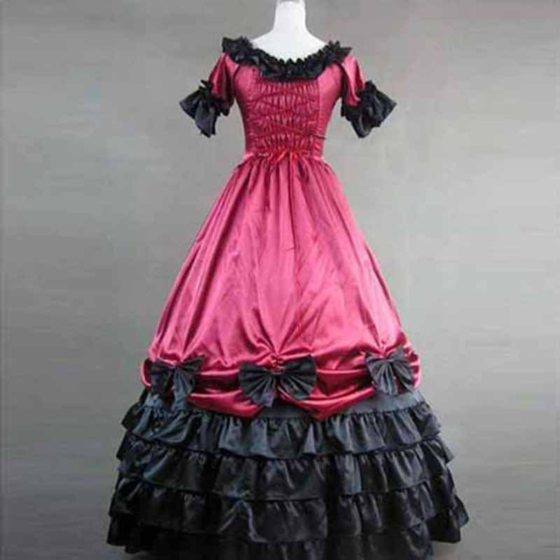 Vendaje Vestidos Vintage Gótico Victoriano Clásico Lolita jsk Fiesta ...