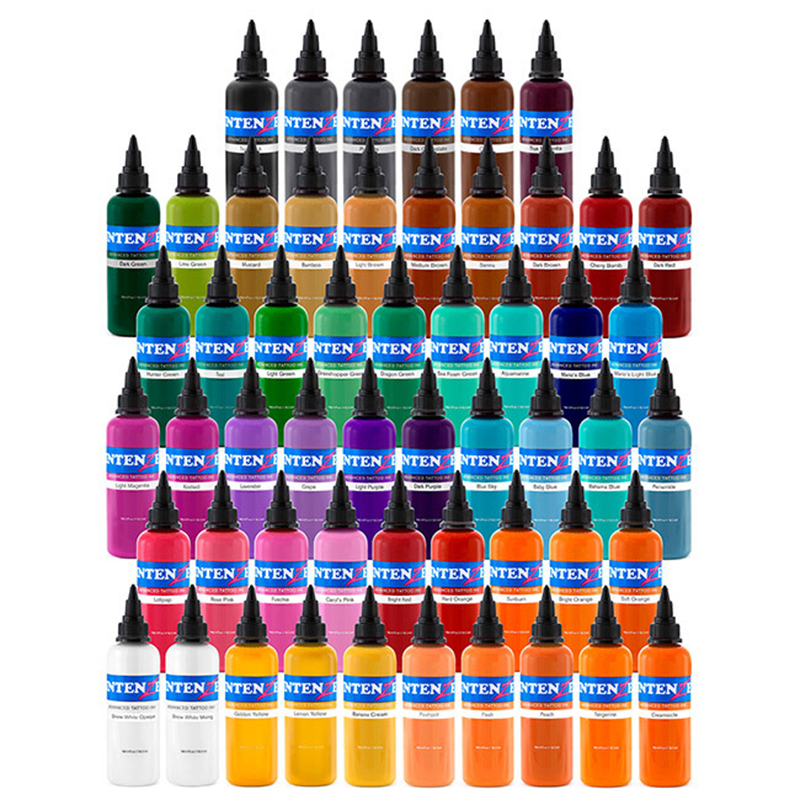 High Quality Tattoo Ink Set Tattoo Pigment 14 Color Set 1 Oz /30ml/bottle Tattoo Paint Kit For 3D Makeup Beauty Skin Body Art