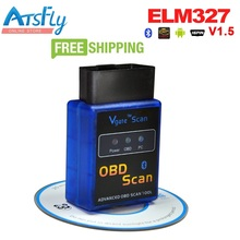 Hot Atsfly Super ELM327 Mini Bluetooth OBD2 Diagnostic Tool Works with Android Torque software Elm 327 Code Reader
