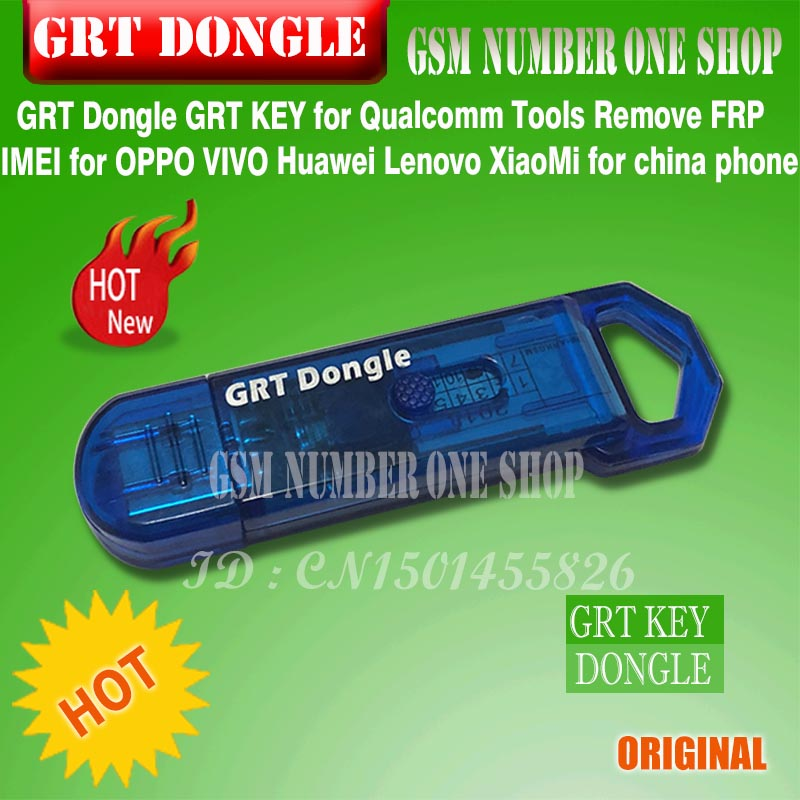 GRT Dongle Grt Key  For China Phone For Qualcomm Tool IMEI Repair Remove FRP For Samsung Huawei HTC NOKIA LG SONY Oppo Vivo....