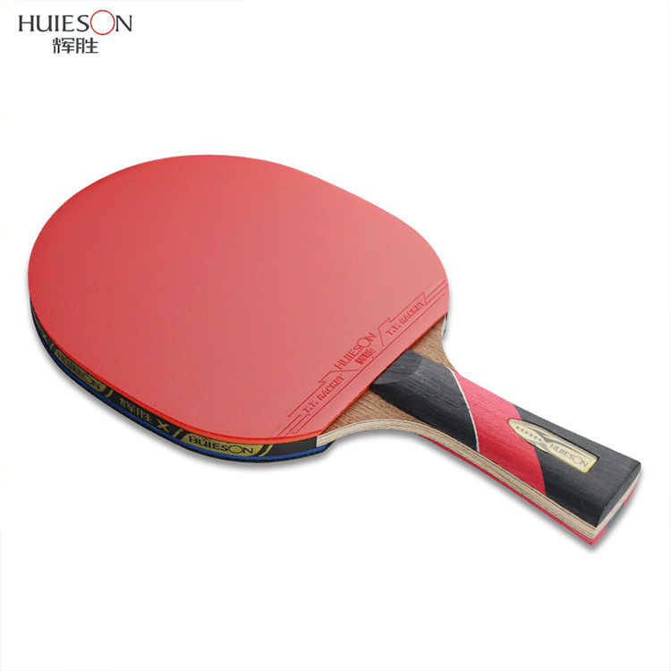 1pcs Huieson 6 Star Carbon Fiber Blade Table Tennis Racket Double Face Pimples Ping Pong Paddle Racket Set