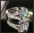 Victoria Wieck  Sparkling 3ct Topaz simulated diamond 10KT White Gold Filled Women Engagement Wedding Ring Sz 5-11 Gift