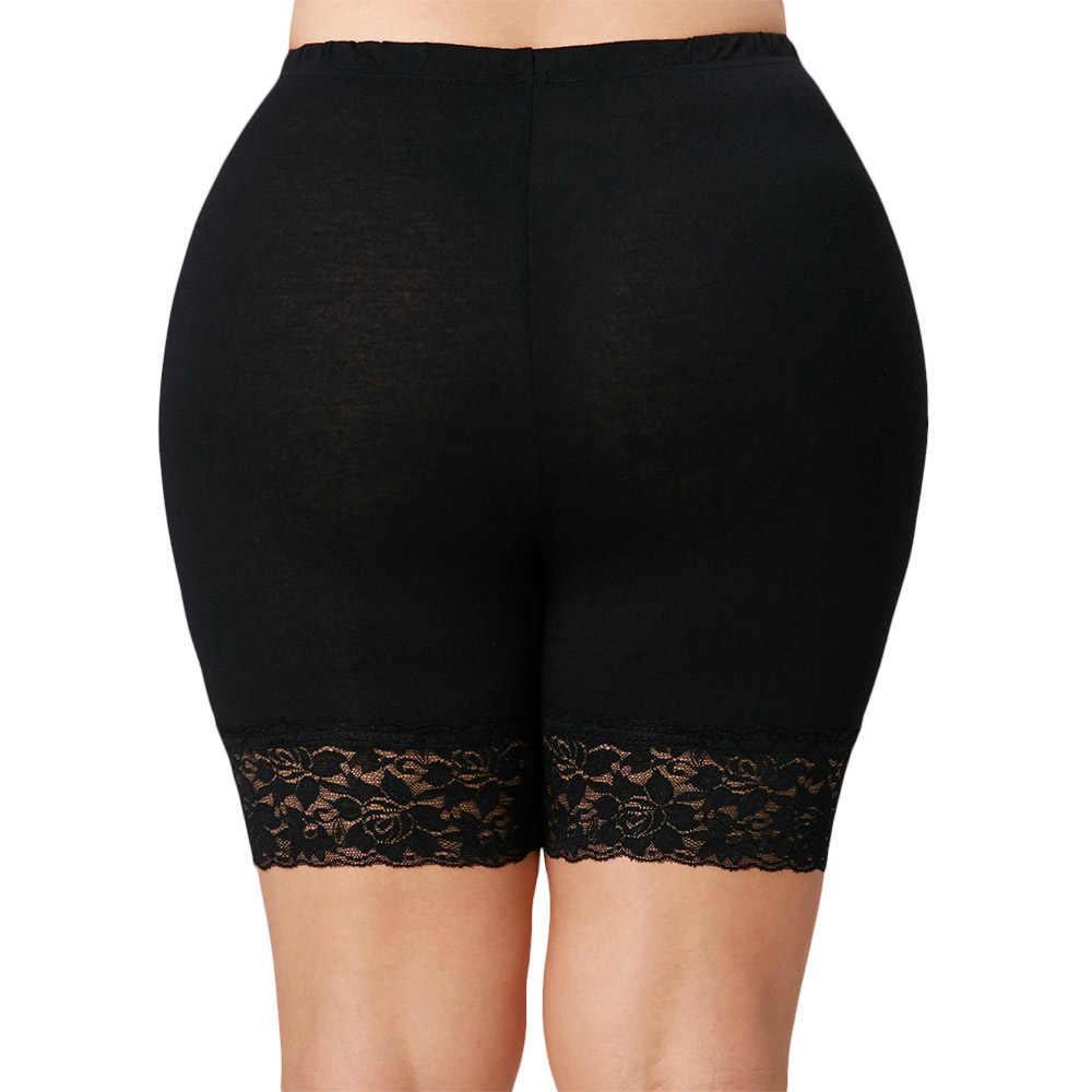 Wipalo Seksi Wanita Renda Katun Lembut Seamless Celana Safety Musim Panas Di Bawah Rok Celana Pendek Bernapas Ketat Pendek Abu-abu Muda XL