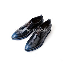 new european style real cow patent leather qshoes shoes mens brand business dress luxury men fashion top quality shoe y0376
