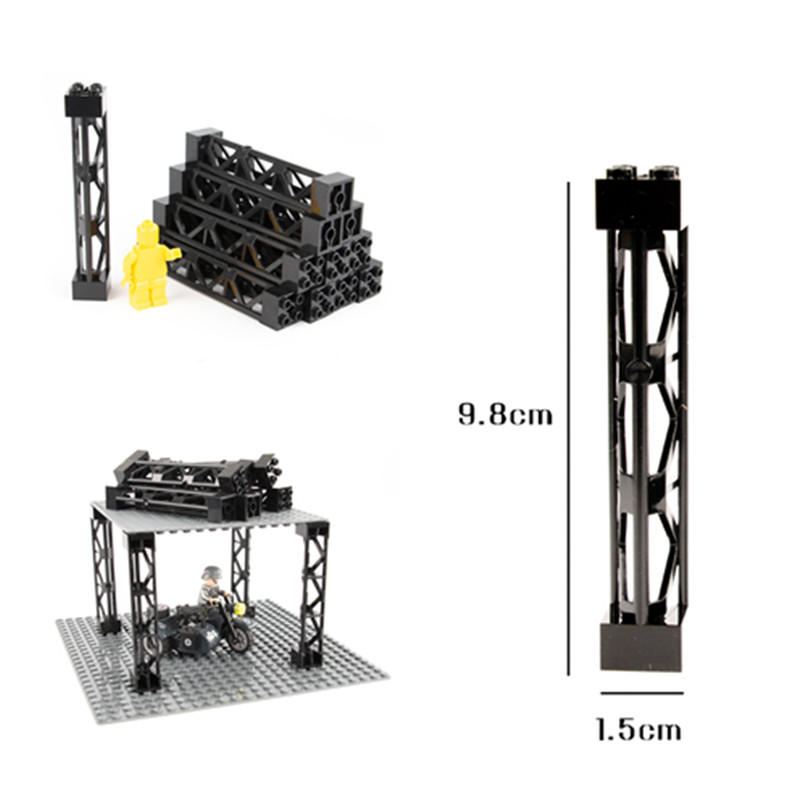 Nett Bausteine Zug Auto Säule Unterstützung Girder Spalte Strahl Militär Ziegel City Teile Kompatibel Turm Technik Diy Spielzeug D018