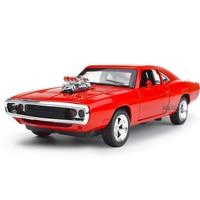 1:32 De Snelle En De Furious Dodge Charger Legering Auto modellen Gratis Verzending Kids Speelgoed Groothandel Vier Kleur Metalen Klassieke Cars